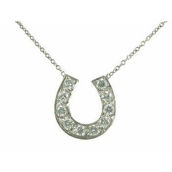 Medium Diamond Horseshoe Necklace (as seen on