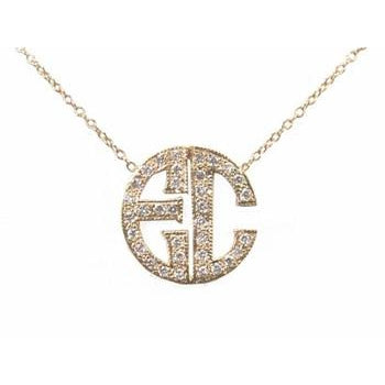 Pave Deco Initial Necklace
