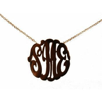 Personalized Script Silhouette Necklace