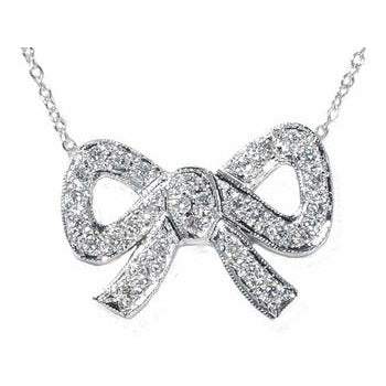 Sex and the city bow necklace