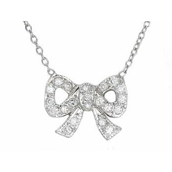 Small Bow Necklace (as seen on