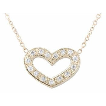 Pave Open Heart Necklace