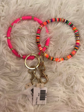 Disc Beaded O Key Rings