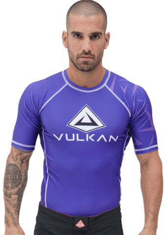 CHALLENGE RASHGUARD SHORT/SLEEVE PURPLE