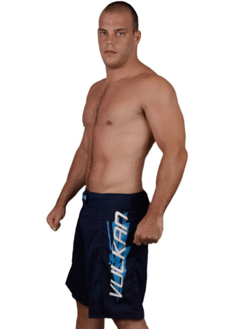 EDGE MMA FIGHT SHORTS NAVY BLUE