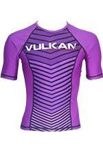 COMP RASHGUARD SHORT/SLEEVE PURPLE