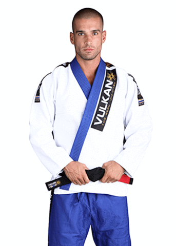PRO LIGHT GI WHITE WITH BLUE LAPEL / PANTS