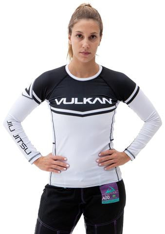 POWER COMP RASHGUARD LONG/SLEEVE WHITE