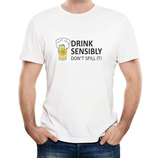 Drink Sensibly - Men's T-Shirt-tshirt-Mad Eye Gifts-Mad Eye McJury
