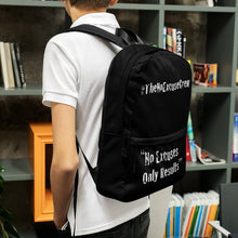 #TheNoExcuseCrew - Backpack - Black w/Wht writing