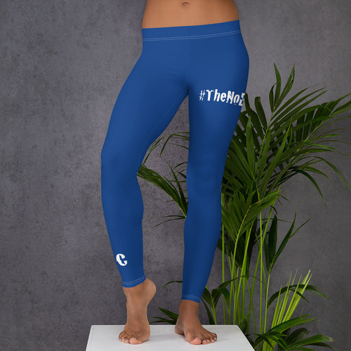 #TheNoExcuseCrew - Women's Leggings - Blue & White