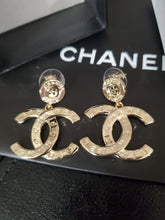 High quality Chanel gold tone eaarings