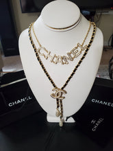 CC double Strand Leather, Crystal & Faux Pearl Necklace