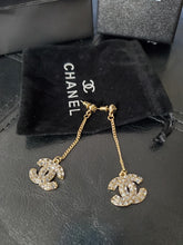 Chanel Crystal Dangling Earrings