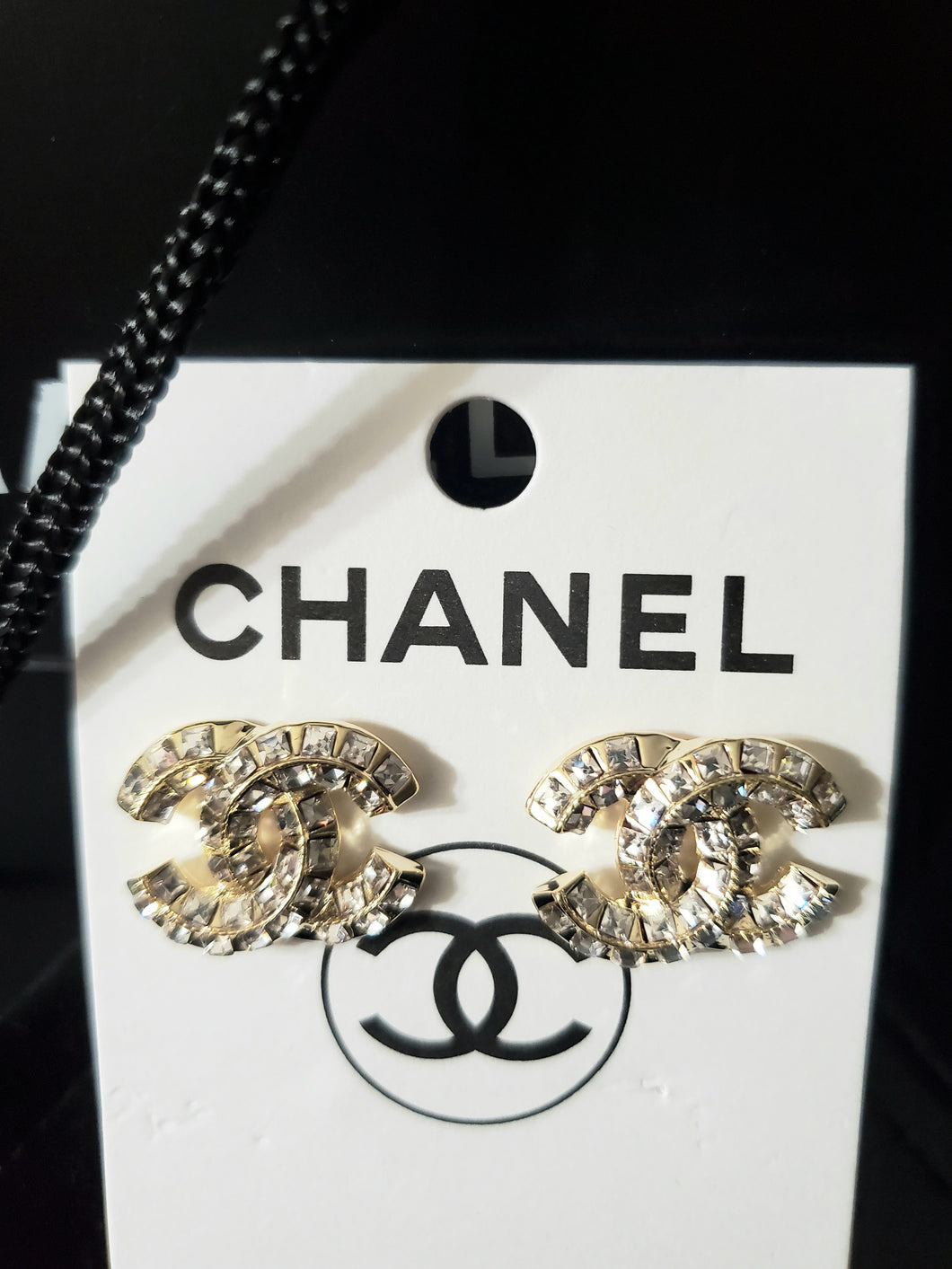 High Quality Chanel Crystal Stud Eaarings