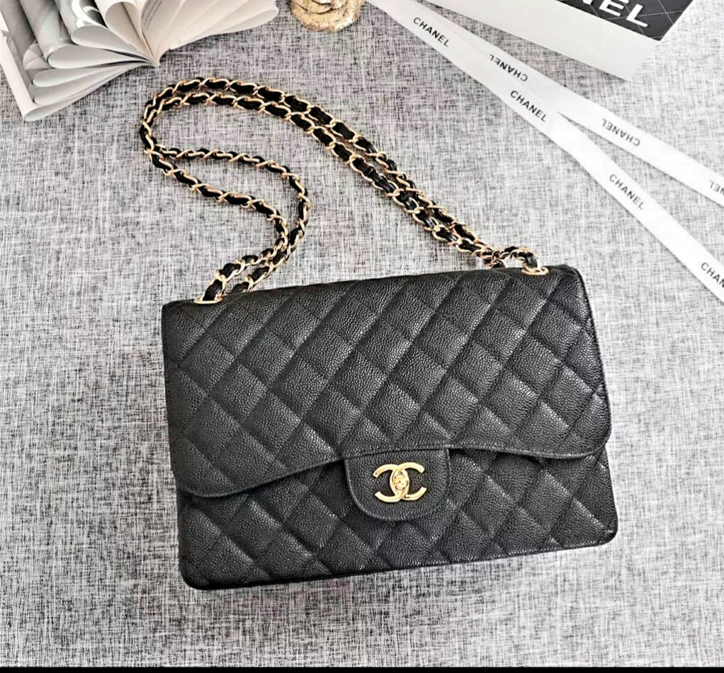 Top Quality Lambskin Jumbo Quilted CC Classic bag