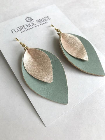 Multi Layer Leather Earrings