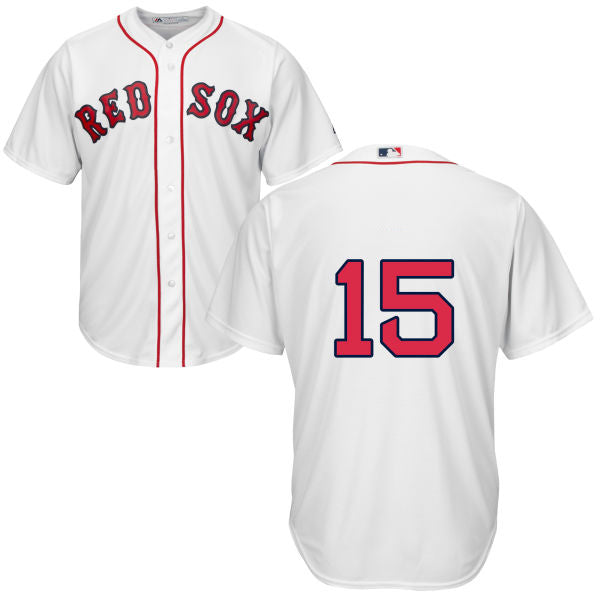 Men's Boston Red Sox Dustin Pedroia Majestic Home White Cool Base Jersey