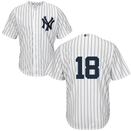 Men's New York Yankees Didi Gregorius Majestic Home White Cool Base Player Jersey