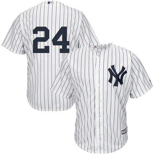 Men's New York Yankees Gary Sanchez Majestic Home White Pinstripes Cool Base Player Jersey