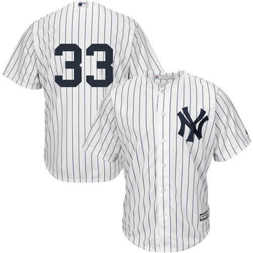 Men's New York Yankees Greg Bird Majestic Home White Pinstripes Cool Base Player Jersey
