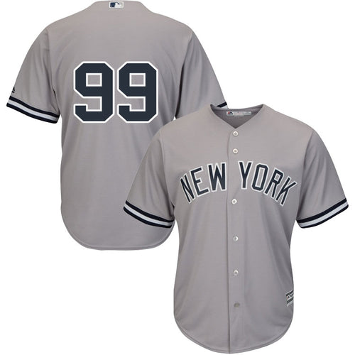 Men's New York Yankees Aaron Judge Majestic Road Gray Cool Base Player Jersey