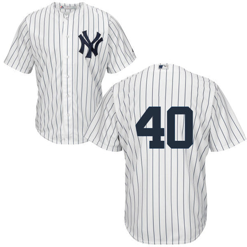 Men's New York Yankees Luis Severino Majestic Home White Cool Base Player Jersey