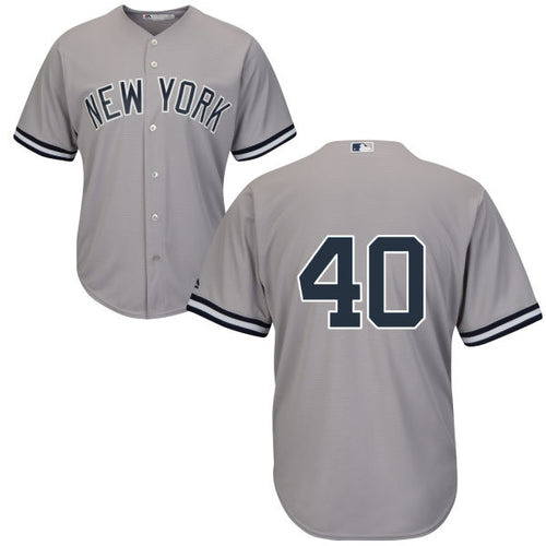 Men's New York Yankees Luis Severino Majestic Road Gray Cool Base Player Jersey