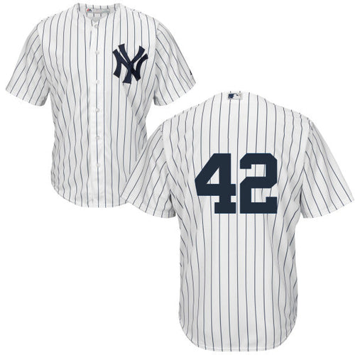 Men's New York Yankees Mariano Rivera Majestic Home White Cool Base Player Jersey