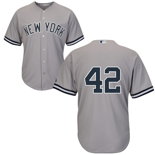 b0b4ce20a5a Men s New York Yankees Mariano Rivera Majestic Road Gray Cool Base Player  Jersey