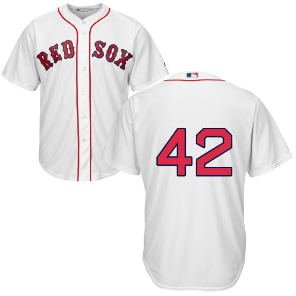 Men's Boston Red Sox Legends Series Mo Vaughn Majestic Home White Cool Base Jersey