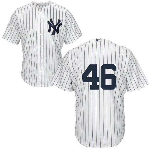 Men's New York Yankees Andy Pettite Majestic Home White Cool Base Player Jersey