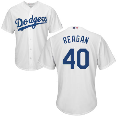Men's Los Angeles Dodgers Presidential Series Ronald Reagan Home Majestic Cool Base Jersey