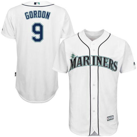 Men's Seattle Mariners Dee Gordon Home Majestic Cool Base Jersey