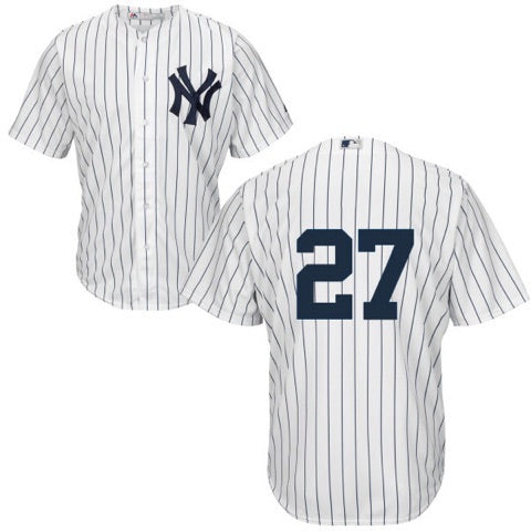 Men's New York Yankees Giancarlo Stanton Majestic Home White Cool Base Player Jersey