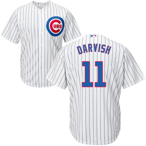 Men's Chicago Cubs Yu Darvish Majestic Home White Cool Base Player Jersey