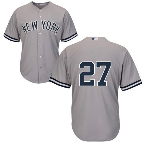 Men's New York Yankees Giancarlo Stanton Majestic Road Gray Cool Base Player Jersey
