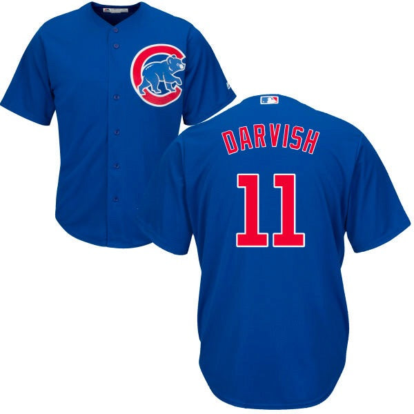 Men's Chicago Cubs Yu Darvish Majestic Blue Alternate Cool Base Player Jersey