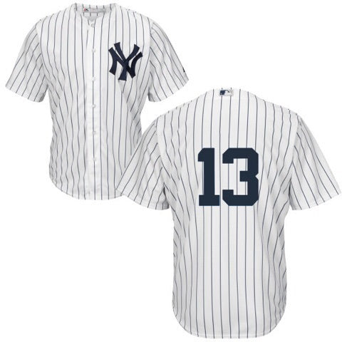 Men's New York Yankees Alex Rodriguez Majestic Home White Cool Base Player Jersey