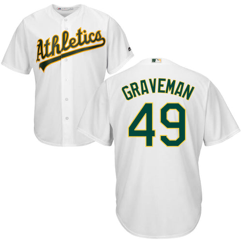 Men's Oakland Athletics Kendall Graveman Majestic Cool Base Player Jersey
