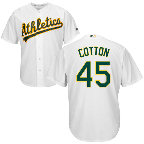 Men's Oakland Athletics Jharel Cotton Majestic Cool Base Player Jersey