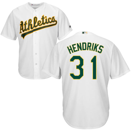 Men's Oakland Athletics Liam Hendriks Majestic Cool Base Player Jersey