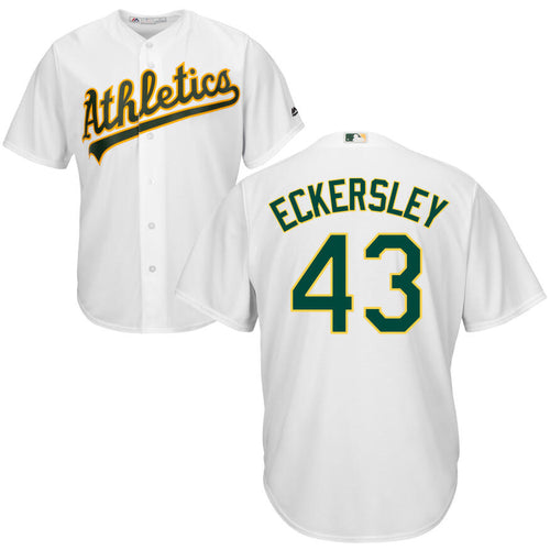 Men's Oakland Athletics Dennis Eckersley Majestic Cool Base Player Jersey