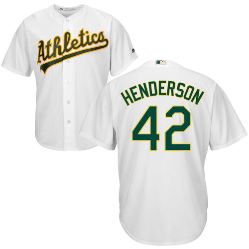 Men's Oakland Athletics Dave Henderson Majestic Cool Base Player Jersey