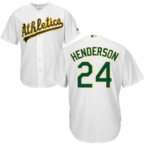 Men's Oakland Athletics Rickey Henderson Majestic Cool Base Player Jersey
