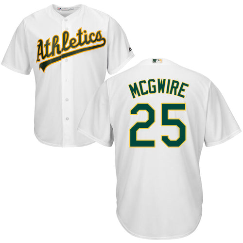 Men's Oakland Athletics Mark McGwire Majestic Cool Base Player Jersey