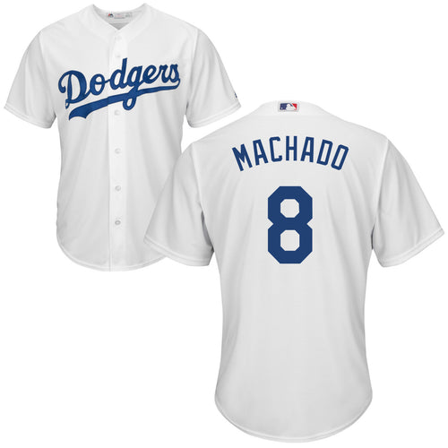 Men's Los Angeles Dodgers Manny Machado Home White Majestic Cool Base Jersey