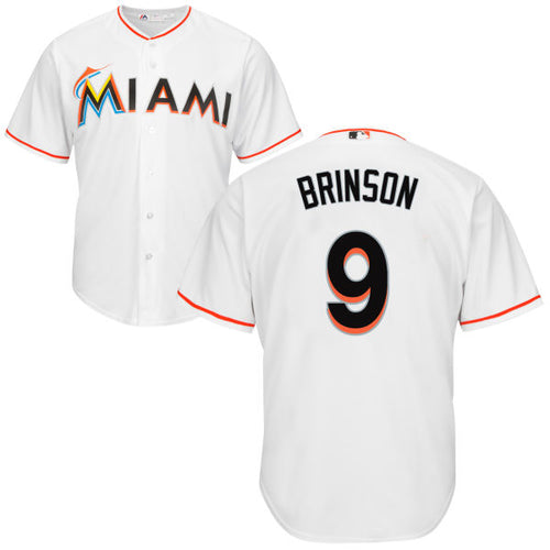 Men's Miami Marlins Lewis Brinson Home Majestic Cool Base Jersey