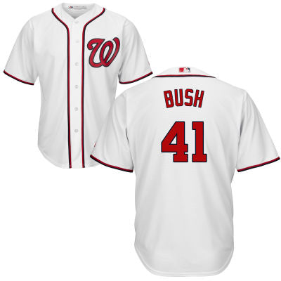 Men's Washington Nationals Presidential Series George H.W. Bush Home Majestic Cool Base Jersey