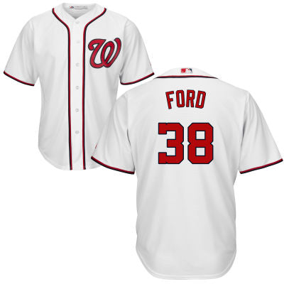 Men's Washington Nationals Presidential Series Gerald Ford Home Majestic Cool Base Jersey